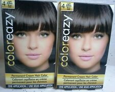 2 Color Eazy Permanent Cream Hair Color Dye, Light Brown