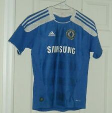 Chelsea F.C.Home Boys Medium Adidas Football Soccer Shirt Jersey Used