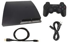 Sony PlayStation 3 Slim PS3 160GB Charcoal Black Console +DualShock 3 Controller