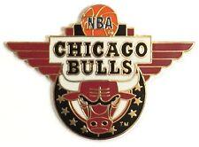 Chicago Bulls Lapel Pin by Peter David ~ NBA ~ 1994 vintage ~ Basketball