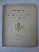 Réception de M. Charles Vaillant à l'hôtel de ville (4 décembre 1922).
