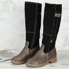Women Mid Calf Snow Boot Winter Comfy Warm Buckle Ladies Knight Dress Shoes Size