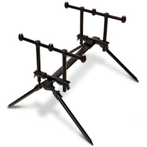 CARP FISHING ROD POD NGT QUICKFISH FULLY ADJUSTABLE 3 ROD WITH STURDY CARRY CASE