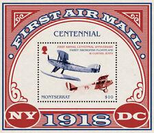 Montserrat 2018 First Air mail centenary, airplane  I201901