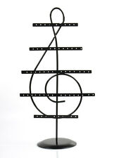 Vintage Black Iron Products music Note Jewelry Earrings holder displayer case