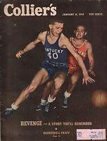 1947 Colliers January 11-Iowa Basketball;Arabs Mobilize in Palestine;Vampire bat