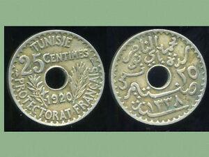 TUNISIE 25 centimes 1920  ( protectorat francais)