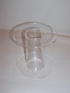 clear acrylic perspex cake stand display separator tube