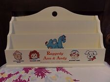 Limited Edition Raggedy Ann & Andy 2004 Wooden Letter Box Japan - Bear Camel Dog