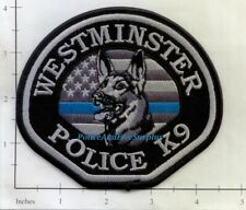 California - Westminster K-9 CA Police Dept Patch K9 Subdued Thin Blue Line