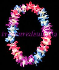 LED Light Up Hawaiian Lei Flashing Flowers Luau Hawaii Vacation Hula Necklace