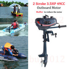 Dinghy Kayak Boat Engine Outboard Engine Motor 3.5HP 2 Stroke Sail / Fresh Water