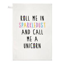 Roll ME in sparkledust e chiamami un unicorno asciugamani Dish Cloth-Divertente