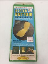 Vintage Green Better Bottom Chaise Aluminum Lounge Chair Webbing Replacement