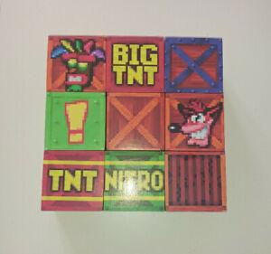 Handmade wooden crash bandicoot play blocks/prop,crash,big tnt,!,crate