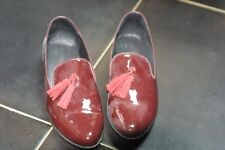 chaussures derbys TEXTO vernis bordeaux taille 40