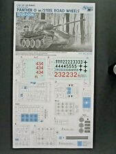 Dragon 1/35 Scale German Panther G Steel Wheel Decals from Kit No. 6370