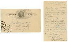 1887 Bird City Kansas M McPherson postal card posted Benkelman Nebraska