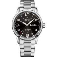 Hugo Boss Men's Pilot Vintage Stainless Steel Watch, Black Dial, 1513327