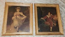 Vtg TURNER Wall Accessory MASTER LAMBTON & MISS MURRAY Framed Prints T. Lawrence