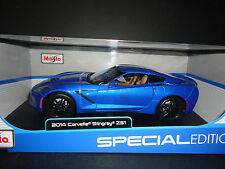 Maisto Chevrolet Corvette C7 STINGRAY Z51 2014 BLUE 1/18