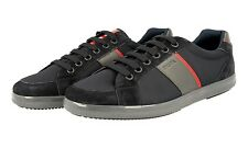 AUTHENTIC LUXURY PRADA SNEAKERS SHOES 4E3043 BLUE RED NEW US 12 EU 45 45,5