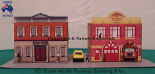 HO Scale Fire & Police Station Model Railway Building Kit - FPS1