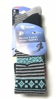 Lorpen T2 Women's Merino wool Ski skiing hiking Winter Socks 2-PK. Sz. S 4-6.5