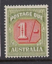 More details for australia postage due:1947 1/- carmine & green sgd128 never-hinged mint