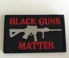 BLACK GUNS MATTER USA ARMY TACTICAL MILITARY MORALE  Embroidery HOOK PATCH