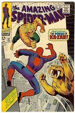 ASM Amazing Spiderman #57 Very Good February, 1968 vs. Kazar & Zabu - Romita Art