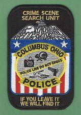 COLUMBUS OHIO POLICE CSI CRIME SCENE INVESTIGATOR PATCH