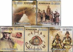 Sao Tome e Principe 4430-4434 (kompl.Ausg.) postfrisch 2010 Feuerwehrwesen