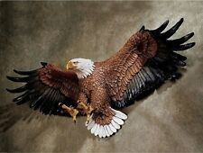 "American Pride Eagle Hanging Wall Art Decor Sculpture Statue Figurine 12""H 7 lbs"