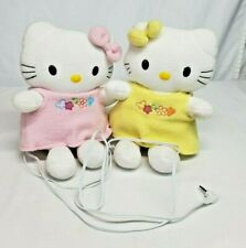 "2004 Sanrio HELLO KITTY & MIMMY 8"" Plush Doll SPEAKERS for MP3 IPhone CD RARE"