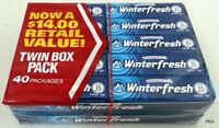 Wrigley's Winterfresh Gum 40 five Ct Pks Chewing Gum Bulk Candy Free Shipping