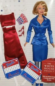 NEW & OUT OF BOX! 2000 TOYS R US EXCLUSIVE, BARBIE FOR PRESIDENT w/ ACCESSORIES