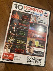 10 HORROR MOVIES VOL. 2 DVD REGION 4