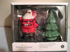 THRESHOLD santa claus and christmas tree salt and pepper shaker set, new in box