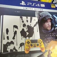 Play Station 4 Pro Death Stranding Edition White JAPAN GAME PS4 VERY GOOD