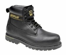 MENS LEATHER SAFETY WORK BOOTS SHOES STEEL TOE CAP TRAINER HIKER ANKLE SZ 6 -13