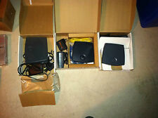 Lot 30 units of new and used fax modems, routers, switches, see below manifest
