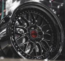 "18"" 18x9.5 18x10.5"" ESR SR01 5x114.3 +22 Black Chrome Wheels For 350Z 370Z Rims"