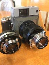 Mamiya Press Medium Format Film Camera With Two Lenses