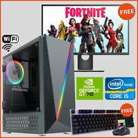 i5 GAMING PC COMPUTER BUNDLE FULL SET ULTRA FAST 8GB RAM 1TB HDD GT710