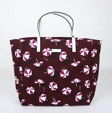 New Auth GUCCI Canvas Tote Bag Handbag w/Heartbit/Parasol Print 282439/295252