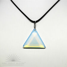 MEDIUM Opalite Triangle Pendant Blessed Energised John of God Brazil