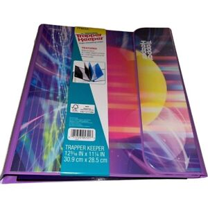 """Mead Trapper Keeper Sunset Binder Vtg Style 80s 90s  1"""" Round Binder Rings 2021"""