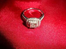 14k White Gold Engagement & Wedding Ring Sets