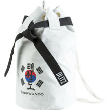 DUFFLE BAG SACCO TELA BIANCO TAEKWONDO BORSA KARATE TANG SU DO KOREA COREANO ITF